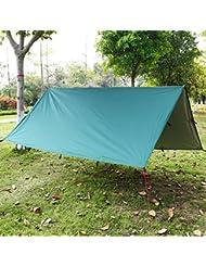 Lona Impermeable,Toldo Camping,Lonas Impermeables Exterior, la sombra del sol y la pulsera de supervivencia con acero inoxidable ajustar el grillete del arco