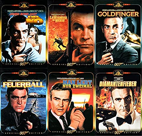 James Bond Sean Connery DVD Box Dr. No/Liebesgrüsse aus Moskau/Goldfinger/Feuerball/Man