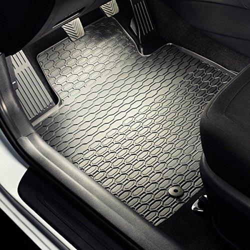 Gummi Fußmatten - 4-teilig - 100% passgenau - schwarz - Gummimatten - 5902538448352