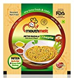 #4: Mouthmelt Methi Masala Soft Thepla (10 packs Single Flavor) (Ready to eat, Rosted, not fied) (Spicy and Garlic Masala) ( each packet contain 200 grams thepla + 30 grams Chutney (Pack of 10)