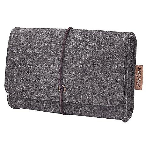 ProCase Tragbare Reisetasche Filz Universaltasche Elektronik-Zubehör Tasche für MacBook Laptop