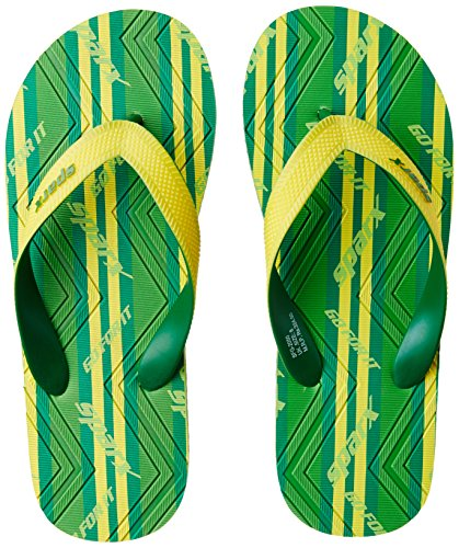 Sparx Men's Fluorescent Green and Yellow Flip Flops Thong Sandals - 9 UK/India (43.33 EU)(SF2050GFGYL)  available at amazon for Rs.227