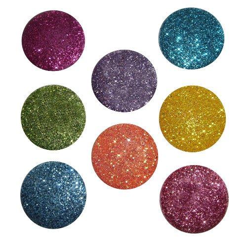 P 4733Big Glitter Dots Fotoalben, Brights (Jesse James Kostüme)