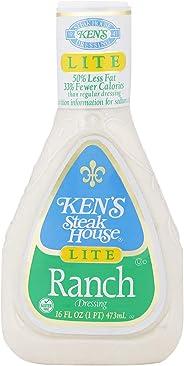 KEN'S Steak House Lite Ranch Dressing, 473 ml