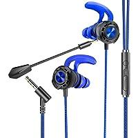 BENGOO G16 - Auricolari da gioco cablati con doppio microfono, con cancellazione del rumore, cuffie in-ear per computer…