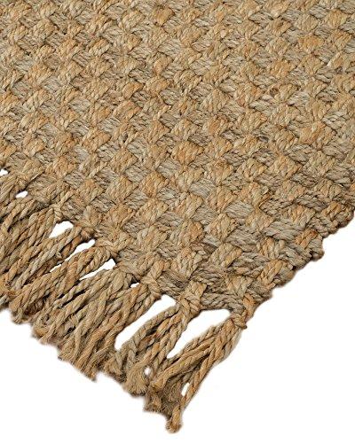NaturalAreaRugs Chatsworth Natürliche Jute Bereich Teppich, handgewoben, strapazierfähig, beige, 8' x 10' - 8x10 Bereich Teppich