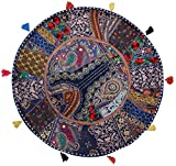 Handmade Khambadia round Cushion cover v...