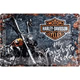 Nostalgic-Art 22174 Harley-Davidson - Favourite Ride, Blechschild 20x30 cm