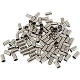 Baoblaze Set Van 100 Aluminium Eindhulzen Eindkappen Hulzen Remkabel