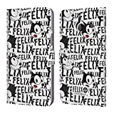 Official Felix The Cat Pattern 2 Cubed Leather Book Wallet