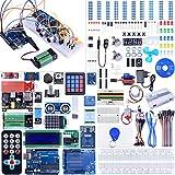 Kuman Kit de Démarrage Pour ArduinoIDE, Kit Compatible avec ArduinoIDE Amélioré Plus Complet Compatible Avec ArduinoIDE MEGA2560 et De Nombreux Accessoires Pour Robot MEGA2560 Nano K27