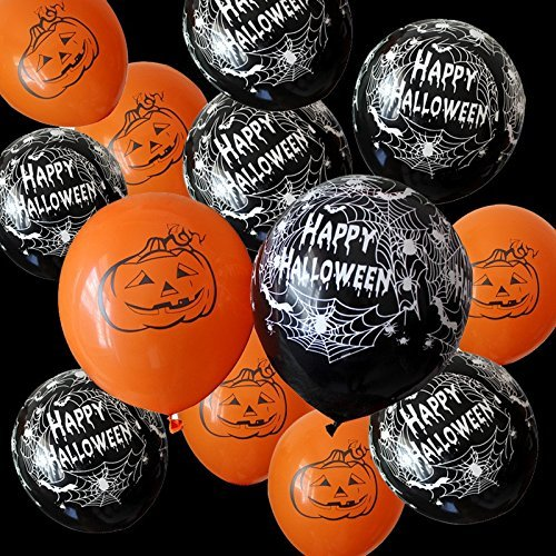 [USA-SALES] Happy Halloween Day Party Balloons Qty. 20, Premium Quality, Assorted Colors, by Usa-Sales Seller by UsaSales