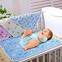 1Pc 70 * 50cm/27.5 * 19.7inch Cotton Cloth Waterproof Cartoon Reusable Baby Infant Urinal Pad Cover/mat/Mattress Pad(Large Size) Diaper Changing Table Pads