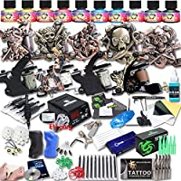 Professional Great Tattoo Kit DragonHawk Upgrade Full Set Tattoo Kit 9 Machines USA Brand Immortal Inks CE Power Supply EU Plug Needle Grips Tips UPG-9