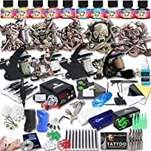 DragonHawk Upgrade Full Set Tattoo Kit 9 Machines USA Brand Immortal Inks CE Power Supply EU Plug Needle Grips Tips UPG-9