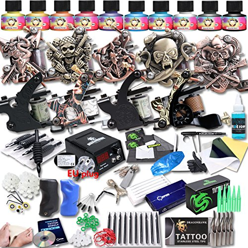 dragonhawk-upgrade-full-set-tattoo-kit-9-machines-usa-brand-immortal-inks-ce-power-supply-eu-plug-ne