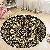 Levoberg Teppich rund 120cm, Teppich Rutschfest, Pflegeleicht und waschmaschinenfest, ideal für Wohzimmer, Esszimmer, Kinderzimmer, 100% Polypropylen