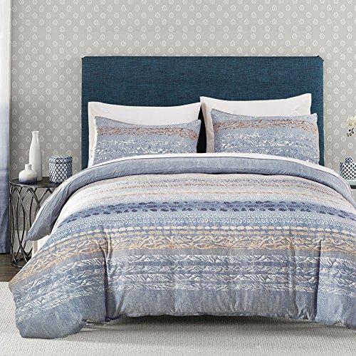 dushow 100% Baumwolle 3Stück Bettbezug und Kissenbezüge Bettwäsche-Set, baumwolle, multi, Double(200cm*200cm) Passendes Twin-bettdecken