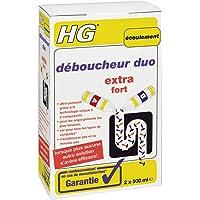 HG déboucheur duo 2x 500 ml – Déboucheur de canalisation pour éliminer les bouchons les plus tenaces dans la cuisine ou…