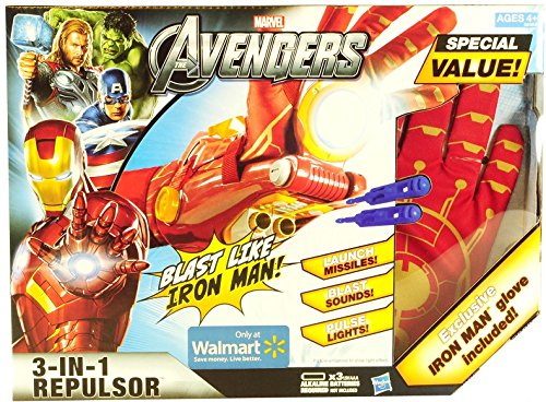 Wal-Mart Exclusive Avengers 3-in-1 Iron Man Repulsor with Glove by Hasbro by Hasbro