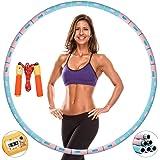 Nishore® Hula Hoop Reifen für Erwachsene,6-Teiliger Abnehmbarer und Einstellbares Gewicht Hoola Hoop Reifen mit Stabiler Edel