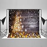 KateHome PHOTOSTUDIOS 2,2x1,5m Weihnachten Foto Kulissen Holz Hintergrund Weihnachtsbäume Hintergrund Fotografie Photo Booth Weihnachten Hintergrund