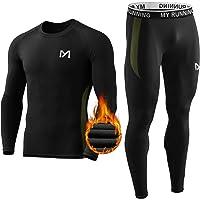 MEETYOO Ensemble de sous-Vêtements Thermiques Homme, Sport Base Layer Maillot Manches Longues + Pantalon Quick Dry Sou…