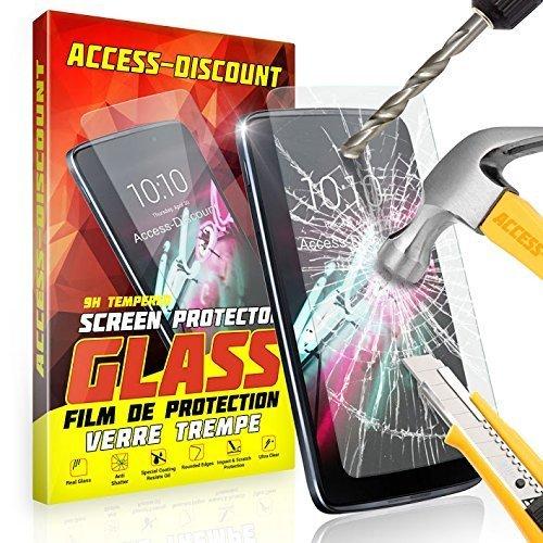 Preisvergleich Produktbild Access Displayschutzfolie aus Glas Bevor passgenau Scheinbein Display 0, 3mm–Sekuritglas–Lenovo K6Power/K65. 0Daumen gehärtetes Glas