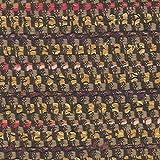 Tweed-Stoff, Braun gestreift