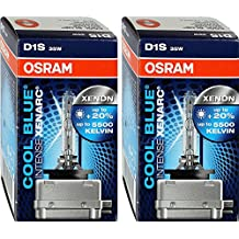 2x Original OSRAM D1S Xenarc Cool Blue Intense Xenon Burner 5000K 66144CBI 66144 35 Watt 20% More Light New Original Box