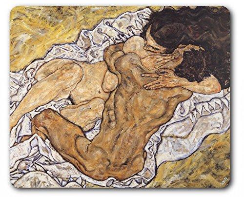 1art1 89684 Egon Schiele - Die Umarmung, Die Liebenden II, 1917 Mauspad 23 x 19 cm