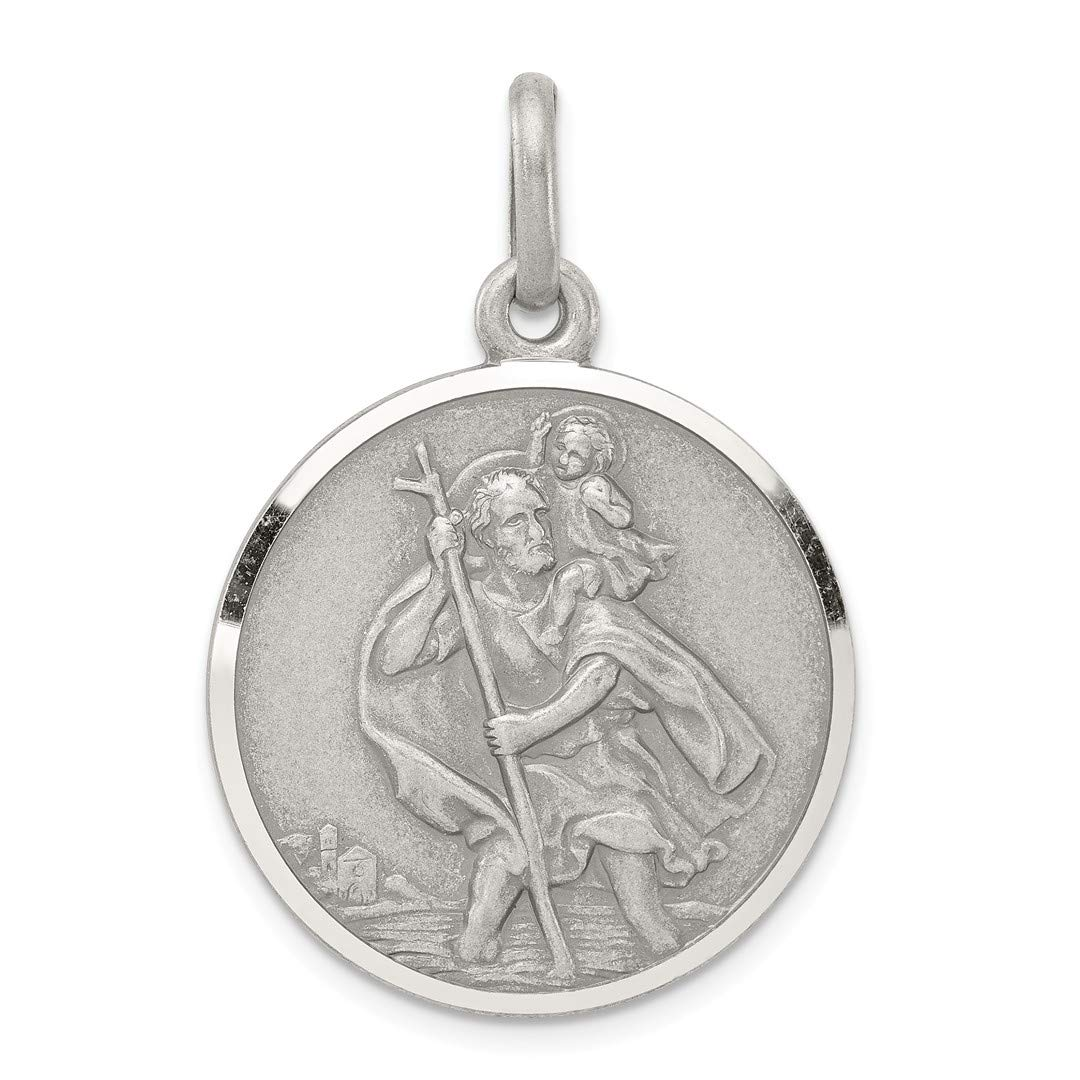 925 Sterling Silver Saint Christopher Medal Pendant Charm Necklace Religious Patron St Fine Jewellery For Women Gifts…