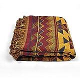 RAIN QUEEN Teppich Kelim Kilim Carpet Bodenmatte Bodenbelag Orientalischer Indischer Handgeknüpfter Orient (130 * 180CM, Bunt)