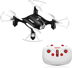 Toy House Syma Compact X20 Pocket Drone 2.4G, 4CH Gyro 6-Axis RC Quadcopter - (Black)