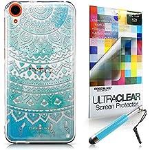 CASEiLIKE Arte indio de la línea 2066 Bumper Prima Híbrido Duro Protección Case Cover Funda Cascara for HTC Desire 820 +Protector de Pantalla +Plumas Stylus retráctil (Color al azar)
