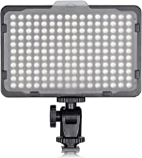 Bestlight Photo Studio 176 LED Ultra Bright Dimmable On Camera Video Light for Canon Nikon Pentax Panasonic Sony Samsung Olympus and Other Digital SLR Cameras(PT-176S)