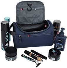 Luvina TravelMore Hanging Travel Toiletry Bag Organizer & Bathroom Storage Dopp Kit with Hook for Travel Accessories Toiletries Shaving & Makeup for Men and Woman (Multi Color)