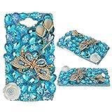 spritech (TM) Motorola Droid Turbo Smartphone Fall, bling Silber Kristall 3D Handmade Blume Diamant Zubehörs klar Cover design10