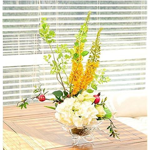 ShiQi vero tocco di fiori finti Melograno Fiore Hydrangea camera da letto decorazione Fiori artificiali Home Giardino decorazioni per matrimoni