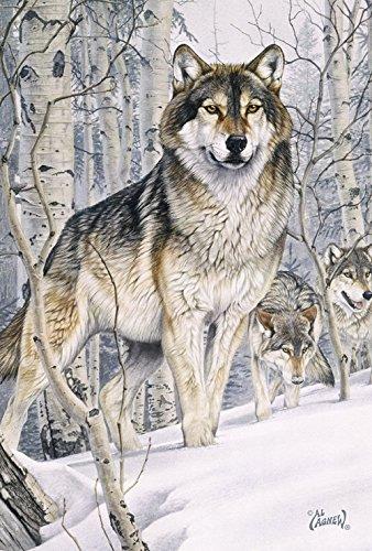 DIYCCY Snow Wölfe 31,8x 45,7cm Deko Outdoor Winter Wolf Garten Flagge