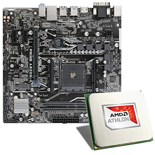 AMD Athlon X4 950 / ASUS Prime A320M-K Mainboard Bundle | CSL PC Aufrüstkit | AMD Athlon X4 950 4X 3500 MHz, GigLAN, 7.1 Sound, USB 3.1 | Aufrüstset | PC Tuning Kit