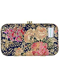 Tooba Handicraft Party Wear Embroidered Box Clutch Bag Purse For Bridal, Casual, Party, Wedding
