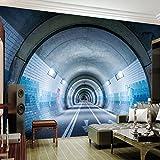 Ohcde Dheark Personalizza Qualsiasi Dimensione Moderna Arte Astratta 3D Tunnel Sotterraneo Di Pittura A Parete Soggiorno Camera Da Letto Divano Tv Murale Di Sfondo Wallpaper 150cmX105cm(59.1 by 41.3 in)