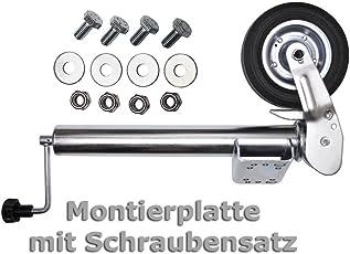 PKW Anhänger Stützrad Automatik Wohnwagen Stützrad Trailer Bugrad Hänger Stützrad Stahlfelge klappbar Klapp Rad