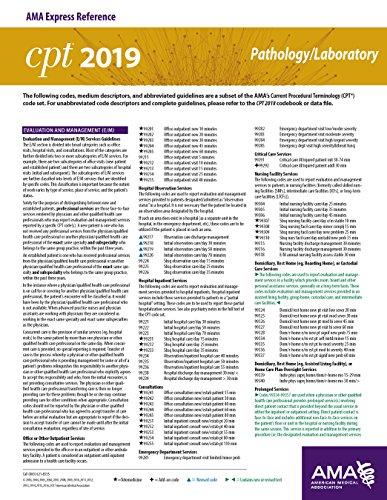 Erc-cpt 2019 Pathology/laboratory por American Medical Association epub