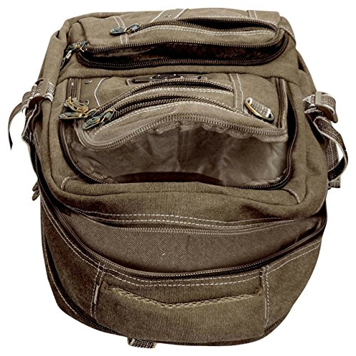 Best canvas backpack in India 2020 Bagathon India Beige Canvas Backpack with Water and Dust Cover Image 4