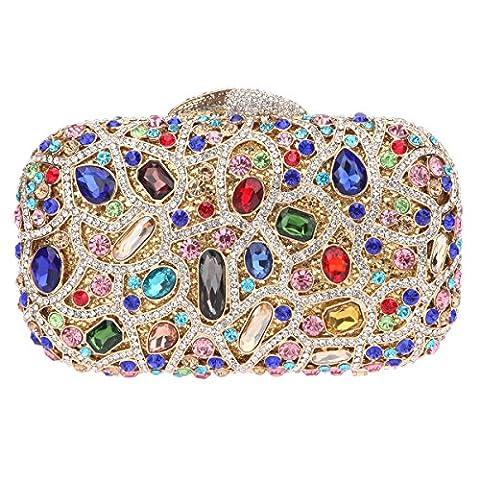 Bonjanvye Bling Evening Clutch Purse For Wedding Handbags For Girls Multicolor