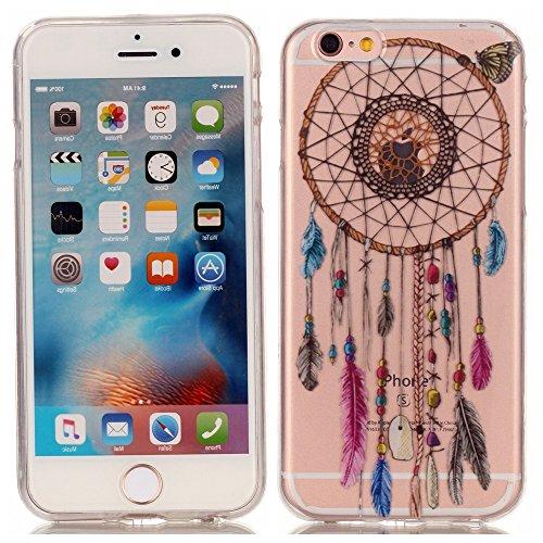 iphone 6s hülle silikon, LuckyW TPU Handyhülle für Apple iPhone 6 6S(4.7 zoll) Soft Silikon Tasche Transparent Schale Clear Klar Hanytasche Durchsichtig Rückschale Ultra Slim Thin Dünne Schutzhülle We Traumfänger