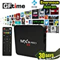GFtime MXQ Pro Android TV Box Amlogic S905 Chipset Kodi 15.2 Full Loaded Android 5.1 Lollipop OS TV Box Quad Core 1G/8G 4K Google Streaming Media Players with WiFi HDMI DLNA