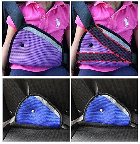 Fontee Baby 2 Stück Auto Gurt Regulator für Kinder,Auto Kinder Kleinkind Sicherheitsgurt Sicherheit Kabelbaum Gurt Stellungsregler (Blau)